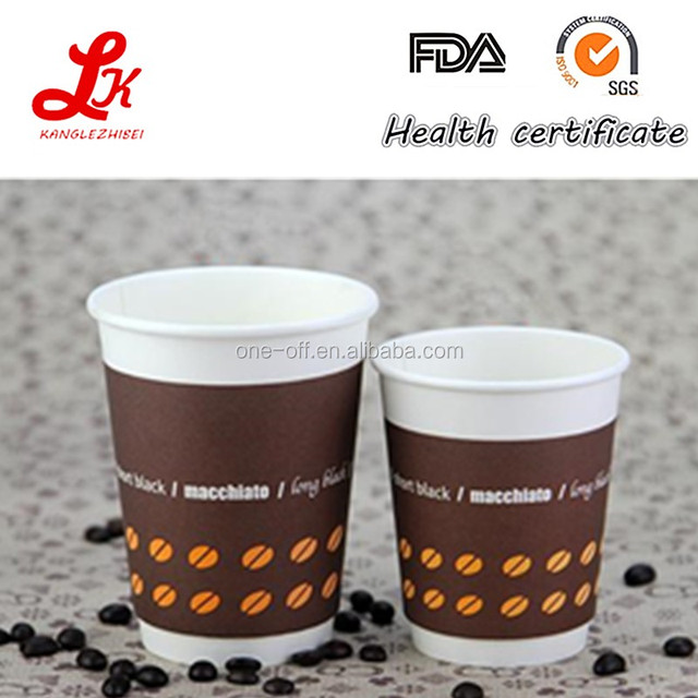 food grade biodegradable disposable double wall hot drink paper cup