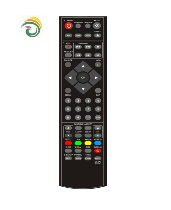 CE and ROHS universal ihandy tv remote control with 57 keys