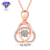 AL0531 Dancing Stone Jewelry 18K Rose Gold AU750 with Natural Real Diamond Women Necklace