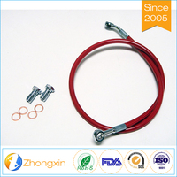 Professional manufacturer directly sales PTFE motorcycle brake hose, brake hose teflon
