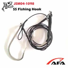 High quality Fisherman Double 12/0 SS Hook With SS Fishing Line,Shark Rig JSM04-1098