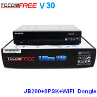 NEWEST free wifi dongle Tocomfree ultra v30 digital satellite receiver free to air Jynxbox v22 v30 V26