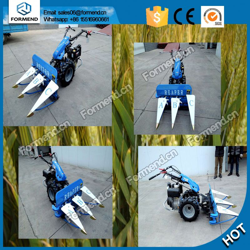 Applicable for various terrains high efficiency wheat crop cutting machine