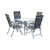 hot sale outdoor folding aluminum patio furniture with round table