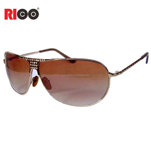 Nickel free sunglasses wholesale custom metal frame Cat. 3 UV400 aviator sunglasses
