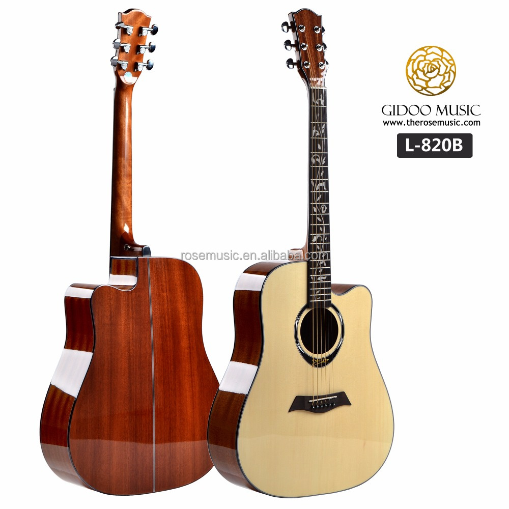41 inch inlay rattan guitar neck wooden guitar manufacturer china L820B