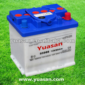 Top Korean Lead Acid DIN Dry Car Battery Rechargeable 12V50AH