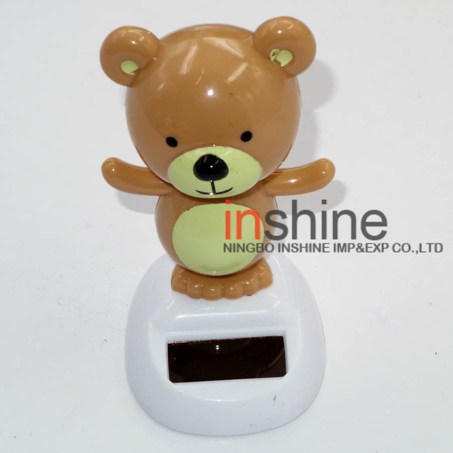 2016 solar powered dancing toy , bear nodding solar toy