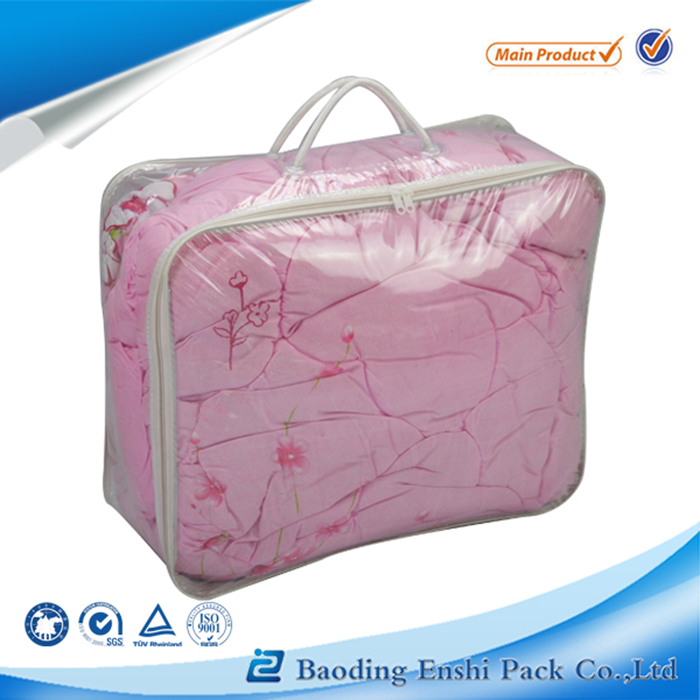 2016 popular plastic bag manufacturer zipper pvc bag for duvet packaging