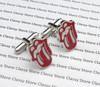 Lips and Tongue Novelty Cufflinks