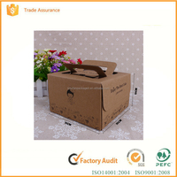 Custom printed food packaging carton birthday cake box kraft cake paper box with window