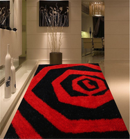 good quality hand tufted 100% polyester bath rug