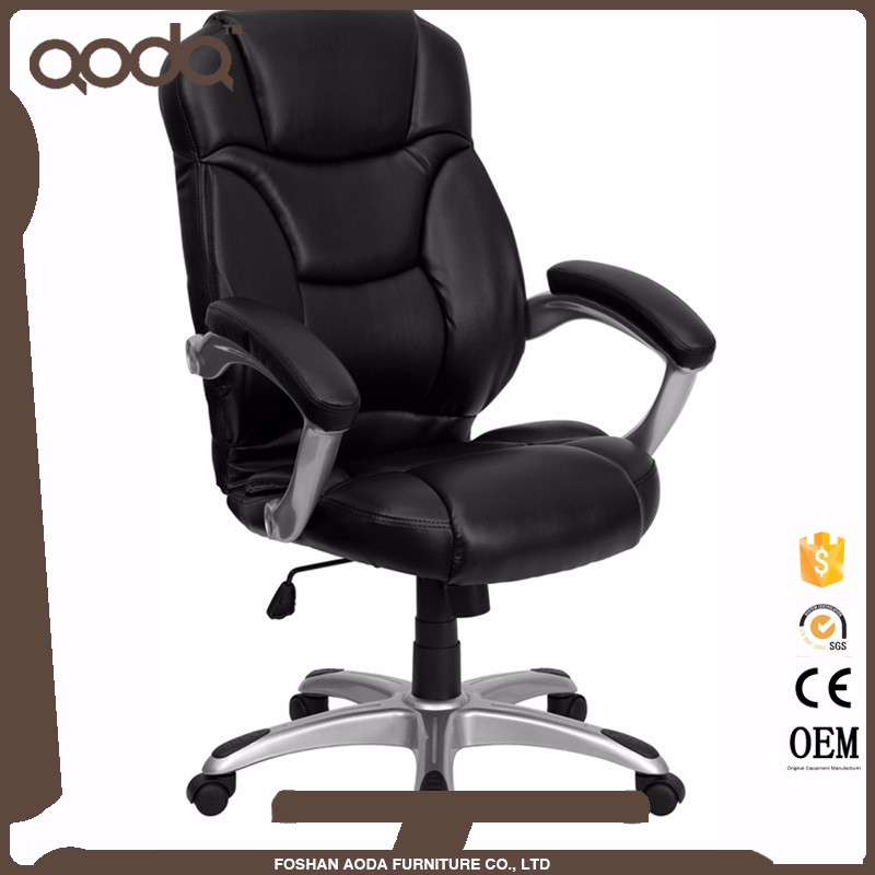 LEATHER EXECUTIVE CHAIR WITH HEADREST CHROME BASE LEATHER OFFICE CHAIR