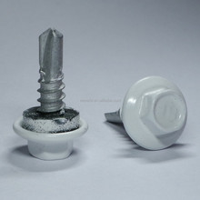 Powder Painted Head Indented Hex Flange Washer Head EPDM Washer BSD Thread No.3 Point Self Drilling Screw