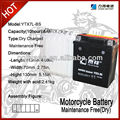 YXT7L-BS MF motorcycle battery,12V 6ah batteries