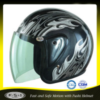 Black Quick release Trade Assurance retro open face motorcycle helmets