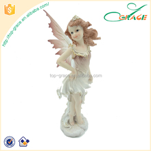 cheap handmade resin fairy figurines with plastic wings