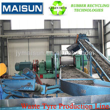 waste tire retreatment for waste tyre/used tires recycling production line
