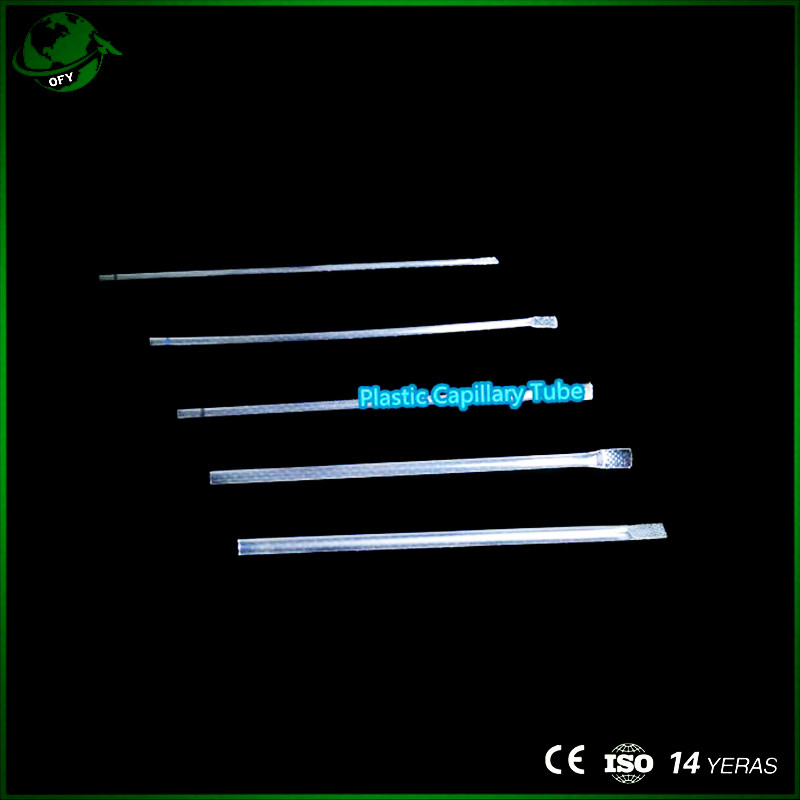 Plastic capillary tube with graduated