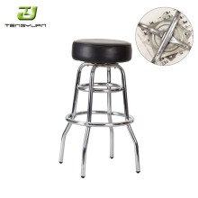 Wholesale cheap used metal swivel customize logo industrial bar stools IT301B