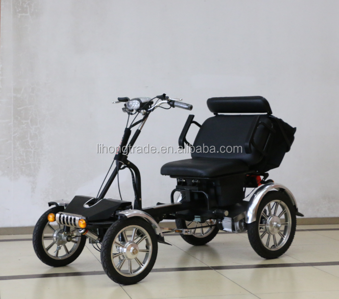 2015 direct factory supply 48v 500w 2 person passenger electric tricycle for elder