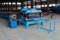 antique color steel roof steel glazed tile roll forming machine made in china.