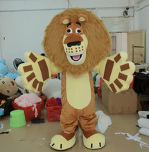 hot sale custom adult madagascar alex lion mascot costume