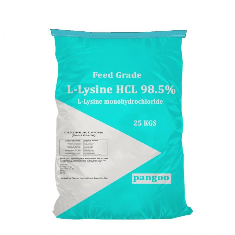 High Quality Manufacturer Supplied Amino acid animal feed additives L-lysine acid 98.5%