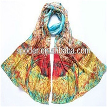 Fashion Digital print silk scarf Wholesales