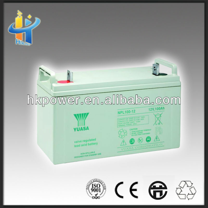 green power 12v 100ah solar battery npl100-12 car power inverter 12volt 100ah battery solar c10 100ah