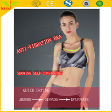 hot sexy dry fit ladies sports bra / OEM service high impact sports bra / custom sublimation reflective printed sports wear