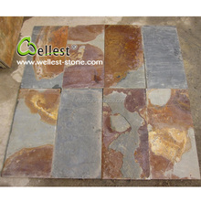 China Factory Manufacture ST015 Rusty Brown Slate Wall Tile for Exterior Decoration
