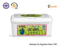 disposable Pet cat cleaning wet wipes/towels/tissues in box Pet Store Supply magic clean wipe