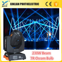 China moving head light osram r7 230w beam moving head light santa claus head light