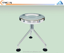 Laboratory High Quality Rolling Stainless Steel Stool Twisted Stools