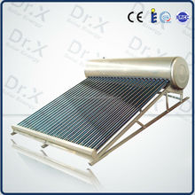 200 Liters Evacuated Tube Compact Non-pressurized solar water heater, parabolic solar collector, double glass vacuum tube