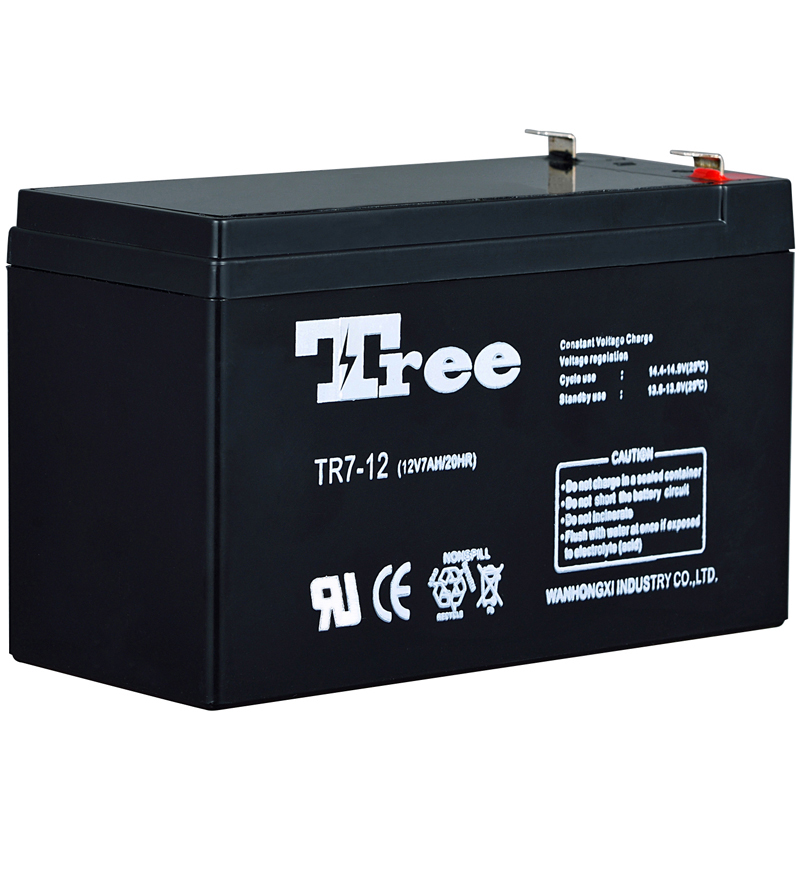 Rechargeable 12 volt 7 amp battery solar energy storage battery
