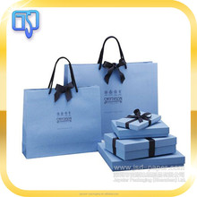 High end jewelry packaging wedding gift paper bag jewelry packaging box with paper bag