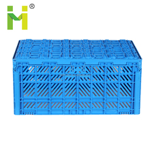 Heavy duty plastic mesh crate and folding basket for storage