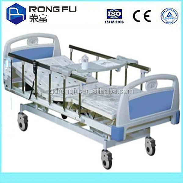 Three-function Manual Hospital Bed with ABS Bed Head