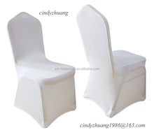 Wholesale cheap white spandex elastic hotel chair cover