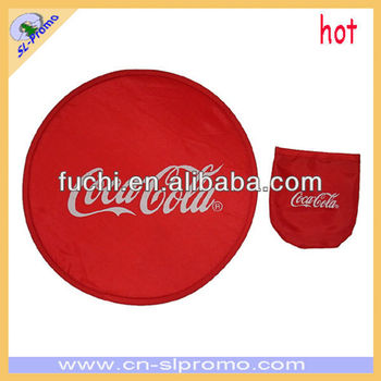 Foldable Nylon Frisbee, Folding Frisbee with Custom Logo for Promotion