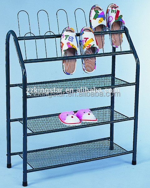 Wholesale space saving furniture 3 tier metal shoe utility rack