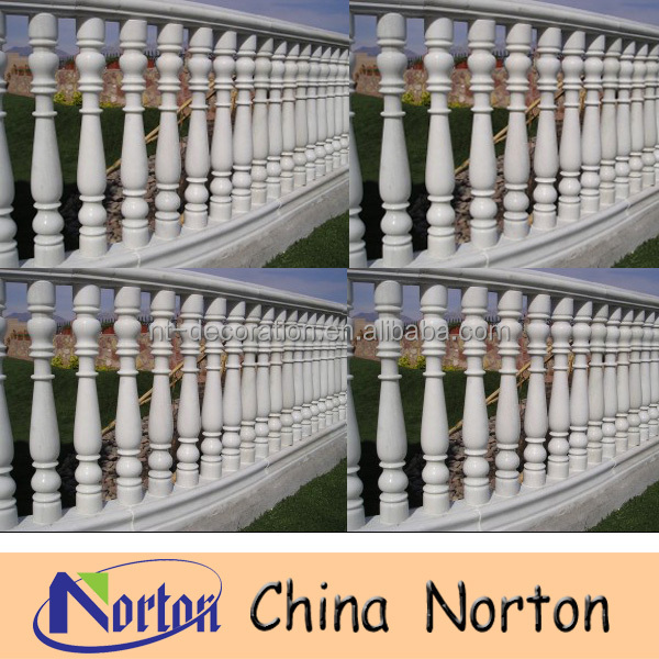 white marble baluster stone baluster railing decorative outdoor handrailsF-MB080R