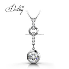 Destiny jewellery wholesale fashion jewellery with18K Gold Plated and Crystal from Swarovski party pendant