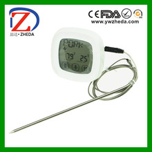 touch screen kitchen digital meat thermometer timer