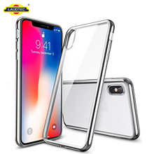 Crystal Transparent Clear Flexible Soft Gel TPU Cover Skin Support Wireless Charging Slim Case for iPhone X
