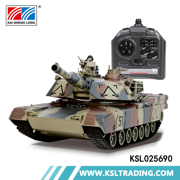 High quality 1:24 simulation plastic rc tank toy model with bb bullets