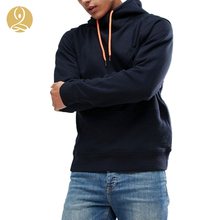 High Neck Raglan Sleeves Hoodie Panelled Design Fitted Trims Oversized Men Hoodie