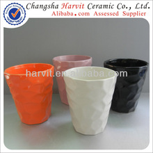 Small Industrial Project China Factory Produced Embossed Flower Pot / Office Desktop Decorations Bonsai Flower Pot